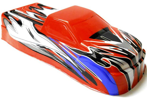 BSP-BNT-4 1/10 1/8 Scale RC Nitro Monster Truck Body Shell Cover Red