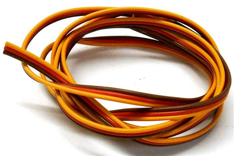 C1304-1 JR Ext Extension Lead PVC Wire Flat 1m 100cm 22AWG RC
