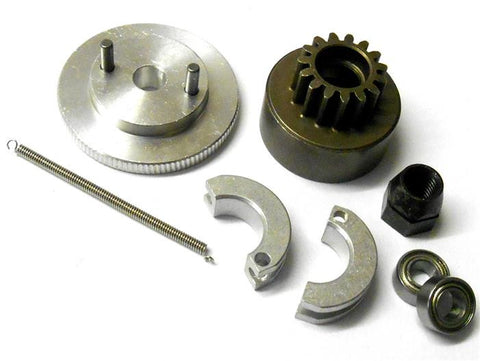 .21 + RC Nitro Engine 2 Shoe Clutch Flywheel + Bell Kit 6mm Nut