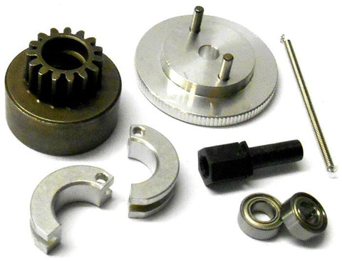 .12 .18 RC Nitro Engine 2 Shoe Clutch Flywheel Bell Kit