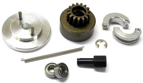 .21 + RC Nitro Engine 2 Shoe Clutch Flywheel + Bell Kit 6mm Axle