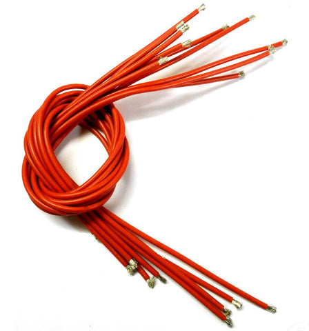 C1307-14 14AWG 14 AWG Silicone Wire 50cm 500mm Red 3.5mm Thick x 10