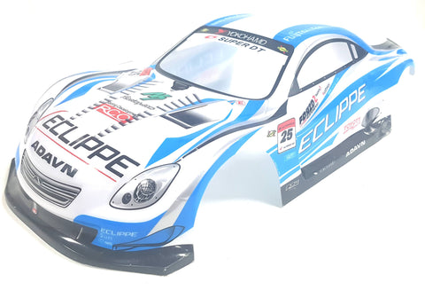 H003B 1/10 Scale Drift On Road Touring Car Body Cover Shell RC Blue + Spoiler