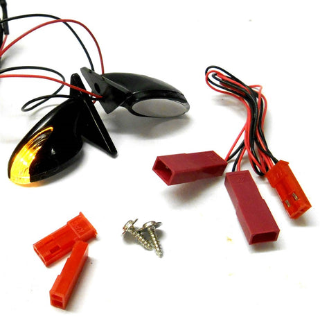 HY00188O 1/10 RC Toy Body Shell Side Wing Mirror Indicator Orange LED for JST