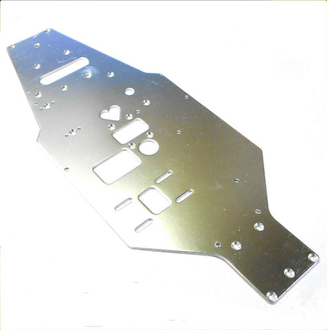 L11307B 1/10 Scale Upper Plate Chassis Silver 322mm Long 130mm Wide