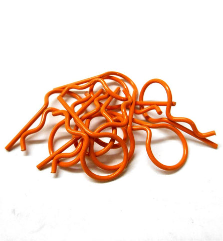 L11602S Orange Small 25mm Long Body Cover Post R Clips Pins Shell 1/10 1/16