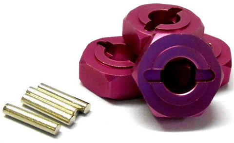 L177 1/8 Scale Buggy M14 14mm Drive Hex Hub Wheel Adapter Alloy Pink x 4 6mm