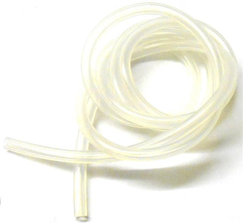 S10010W White Silicone RC Nitro Glow Fuel Line Tube Pipe 1 Meter 4mm x 2.5mm