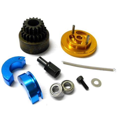 16-21T Alloy Clutch Set Bell Shoes Springs Flywheel Bearing For 1//10 RC Car
