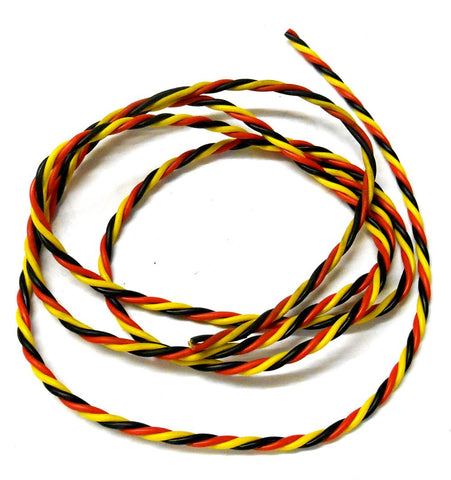 C1302-1 Hitec Extension Lead Wire Twisted 1m 100cm 22AWG