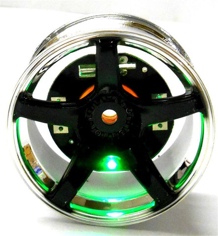 L-002G 1/10 Scale Wheel Hub LED Lights M12 12mm Hex x 4 Green HUBS Only