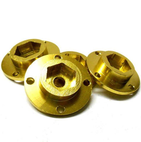 L11015 1/10 Scale RC Wheel Hubs x 4 Yellow 29. 76mm OD - 7. 52mm Wide