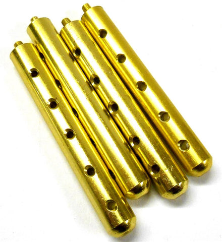 L11071 1/10 1/8 Scale Alloy Yellow Body Shell Cover Post Stand x 4 70mm