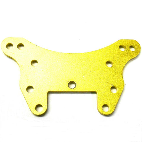 L11075 1/10 Scale Car Front Shock Tower Mount Alloy Plate x 1 Yellow Gold