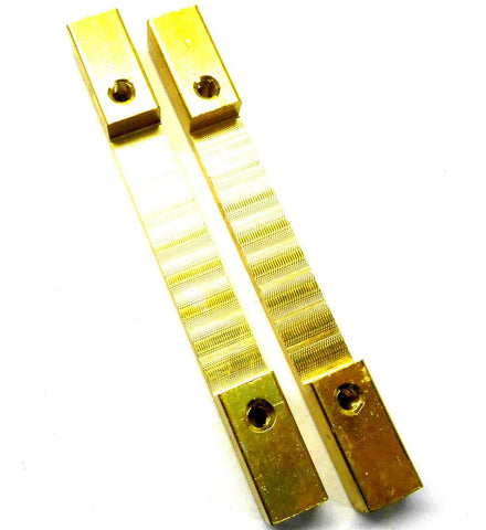 L11079 1/10 1/8 Scale Alloy Support Block Bridge x 2 M3 3mm Threaded Yellow 75mm