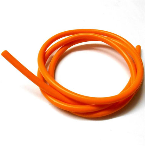 S10010O Orange Silicone RC Nitro Glow Fuel Line Tube Pipe 1 Meter 5mm  2mm