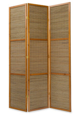 Image of 3 panel bamboo room dividers