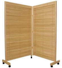 2 Panel Room Divider on Wheels
