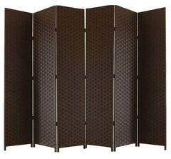 Brown 6 Panel Room Divider