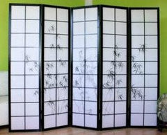 5 Panel Shoji Folding Screen