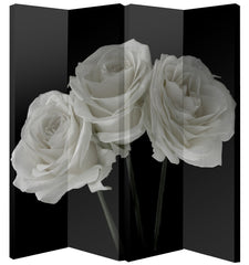 Black 4 Panel Decorative Screen