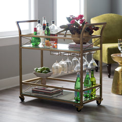 Bar Cart as room divider