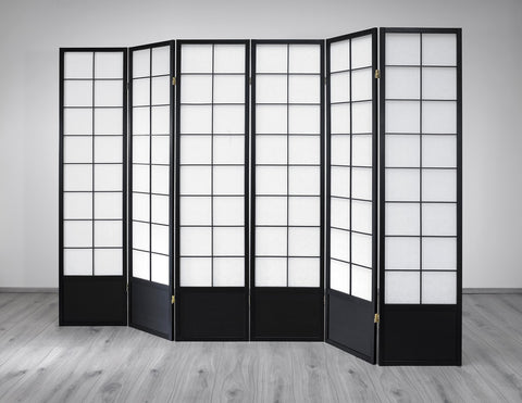 Hoshi Room Divider Screen - Black - 6 Panel