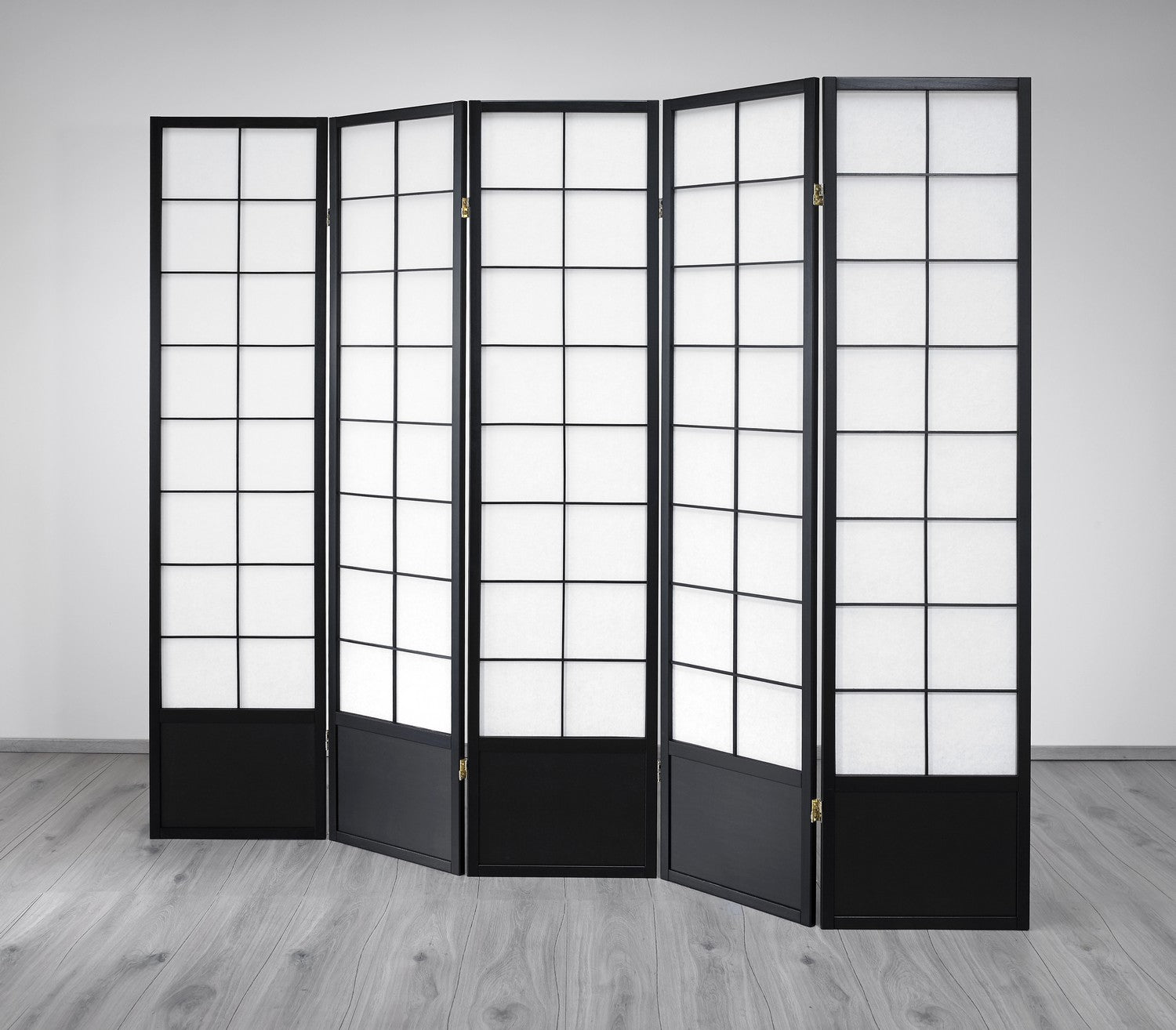 Hoshi Room Divider Screen - Black - 5 Panel