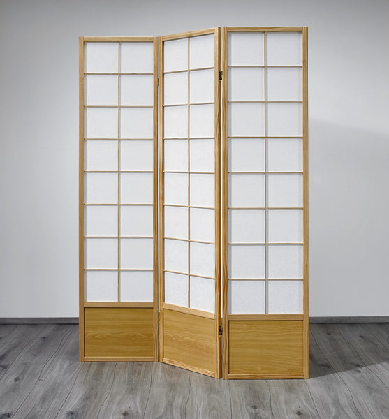 Hoshi Room Divider Screen - Natural - 3 Panel