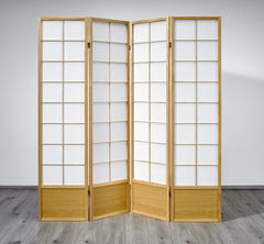 Hoshi Room Divider Screen - Natural - 4 Panel