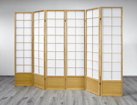 Hoshi Room Divider Screen - Natural - 6 Panel