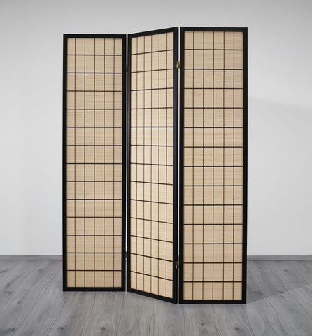 Choko Wood Line Room Divider Screen - 3 Panel
