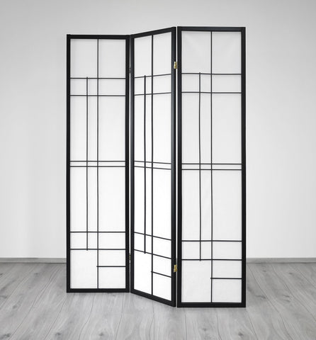 Trend Room Divider Screen - Black - 3 Panel