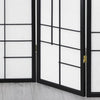 Trend Room Divider Screen - Black - 4 Panel