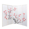 Cherry Tree Shoji Screen - White - 5 Panel