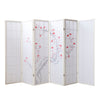 Bamboo Window Shoji Room Divider Screen - Cherry White - 6 Panel