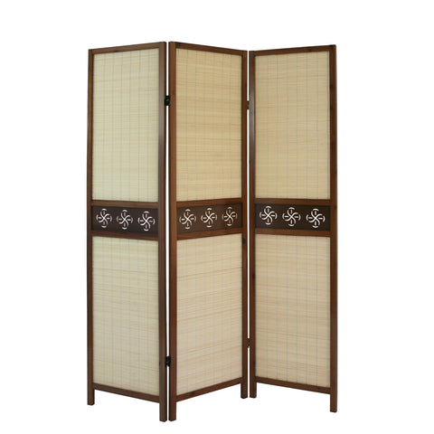 Jute Room Divider Screen