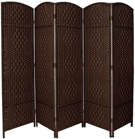 Entwine Dark Brown Colour Handmade 4 Panel Room Divider Screen