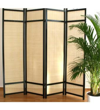 Kimura Room Divider Screen 4 Panel Room Dividers UK