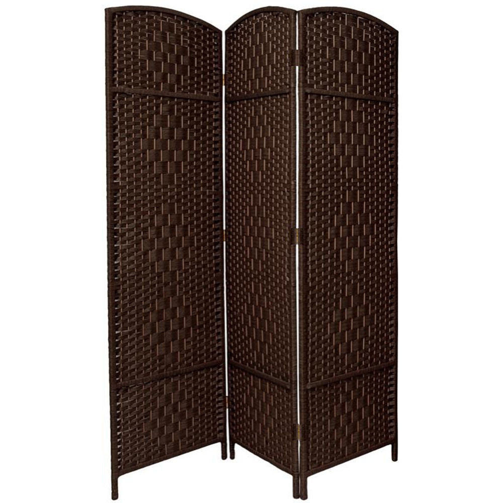 Entwine Dark Brown Colour Handmade 3 Panel Room Divider Screen