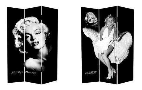 Classic Marilyn Room Divider Screen - Front and Back