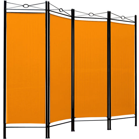 Spanish 4 Panel Room Divider Screen - Yellow