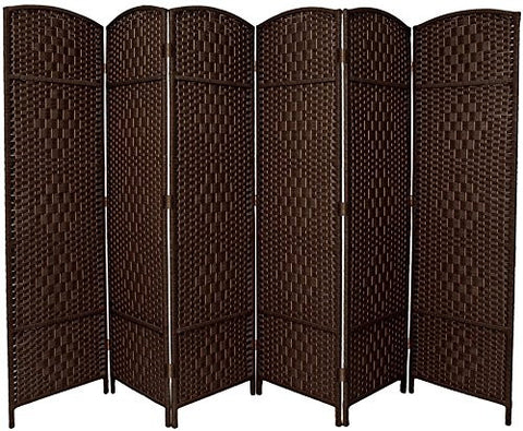 Entwine Dark Brown Colour Room Divider Screen - 6 Panel
