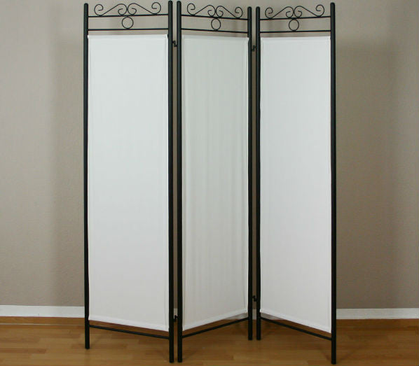 Iron Metal Room Divider Screen - 3 Panel