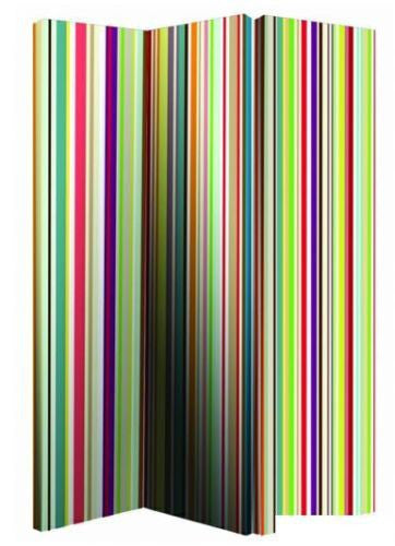 Bright Stripe Room Divider Screen