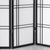 Shiro Room Divider Screen - Black - 5 Panel