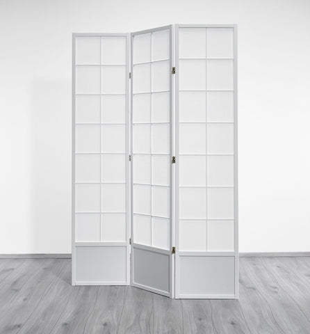 Hoshi Room Divider Screen - White - 3 Panel