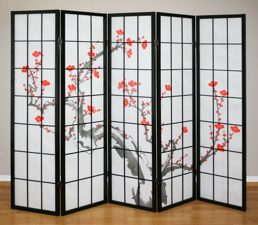 tree shoji screen 5 panel room dividers room dividers uk