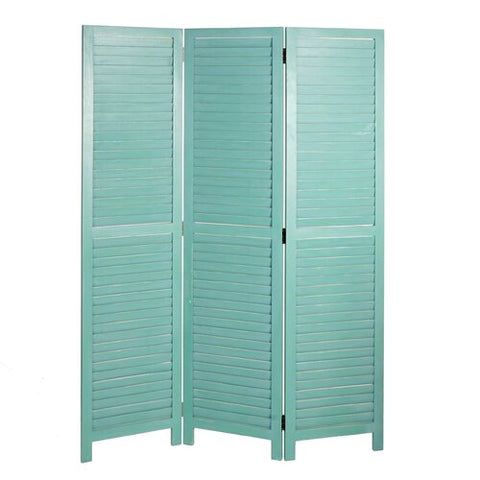 Green Hampton 3 Panel Room Divider