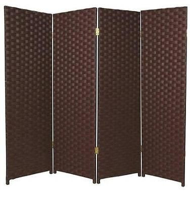 Entwine Brown Colour Room Divider Screen - 4 Panel
